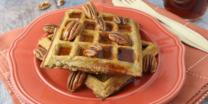 Pumpkin Pie Spiced Waffles