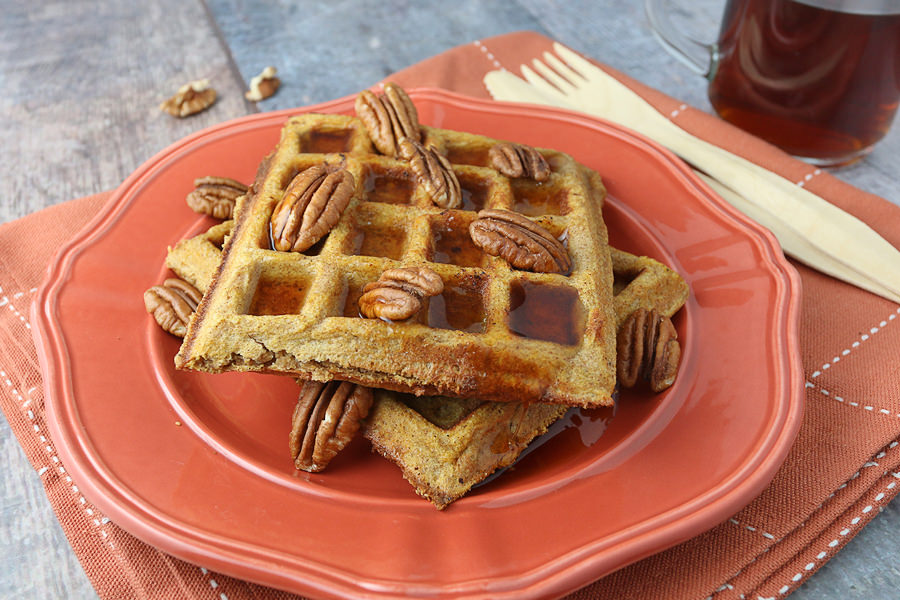 Pumpkin Pie Spiced Waffles | Ruled Me