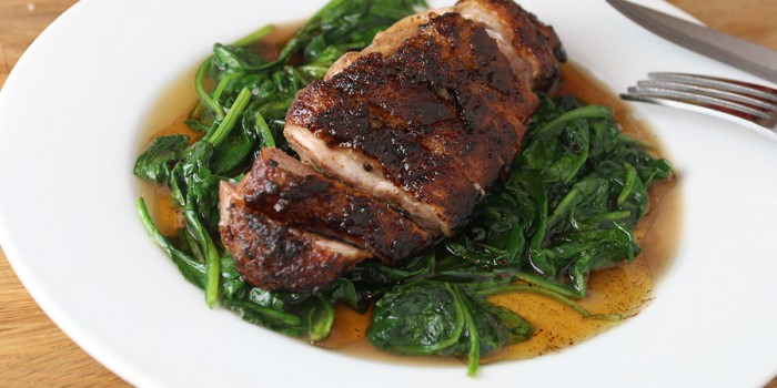 Orange and Sage Glazed Duck Breast