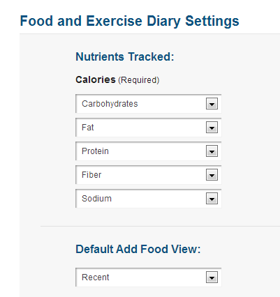 MyFitnessPal Nutrient Tracking