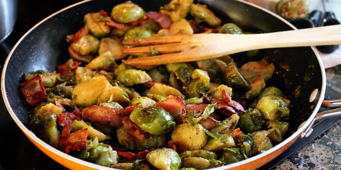 Garlic and Bacon Brussels Sprouts