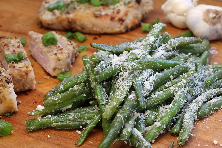 Crisp Garlic Parmesan Green Beans