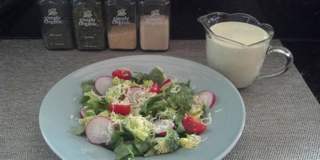 Ranch Dressing and salad
