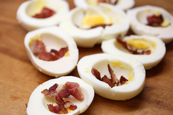 Spiced Bacon Deviled Eggs