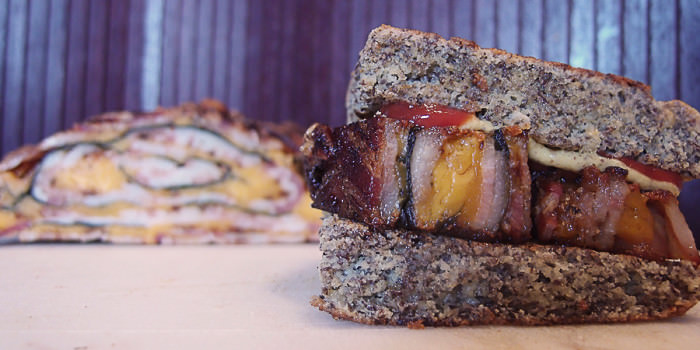 Fried Bacon Explosion Sandwich