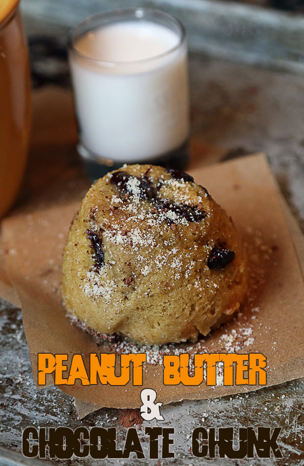 Peanut Butter and Chocolate Chunk Mug Cake | Shared via www.ruled.me