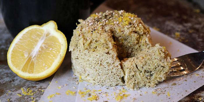 Cumin Sesame Lemon Mug Cake