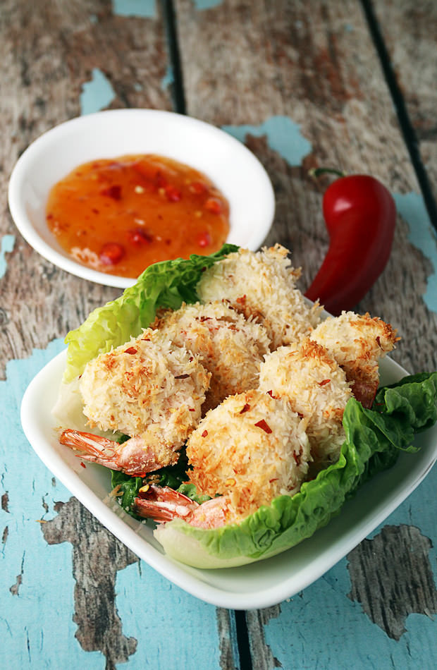 Low Carb Coconut Shrimp | Shared via www.ruled.me