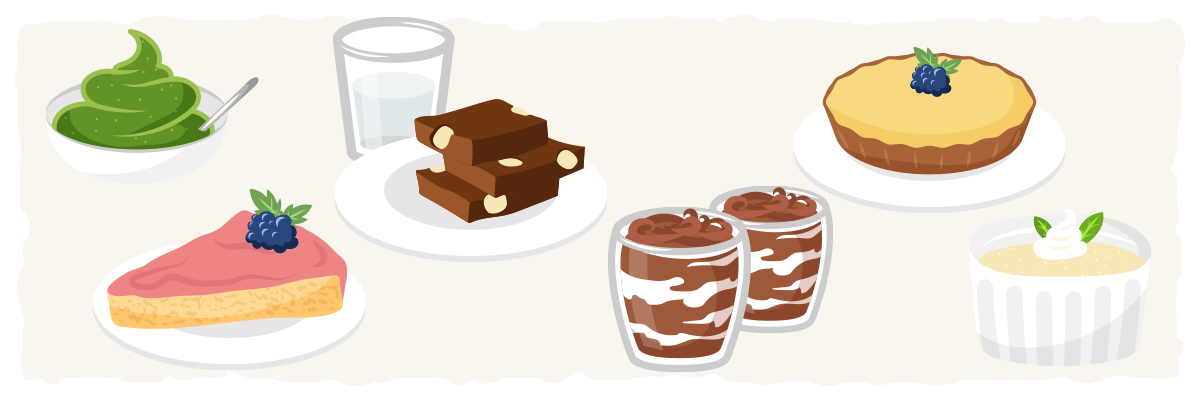 Ideas for common low-carb dessert recipes