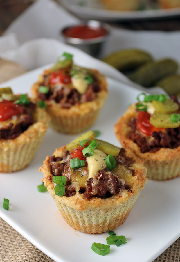 Perfect for the upcoming #superbowl - Keto Cheeseburger Muffins. Shared via www.ruled.me/