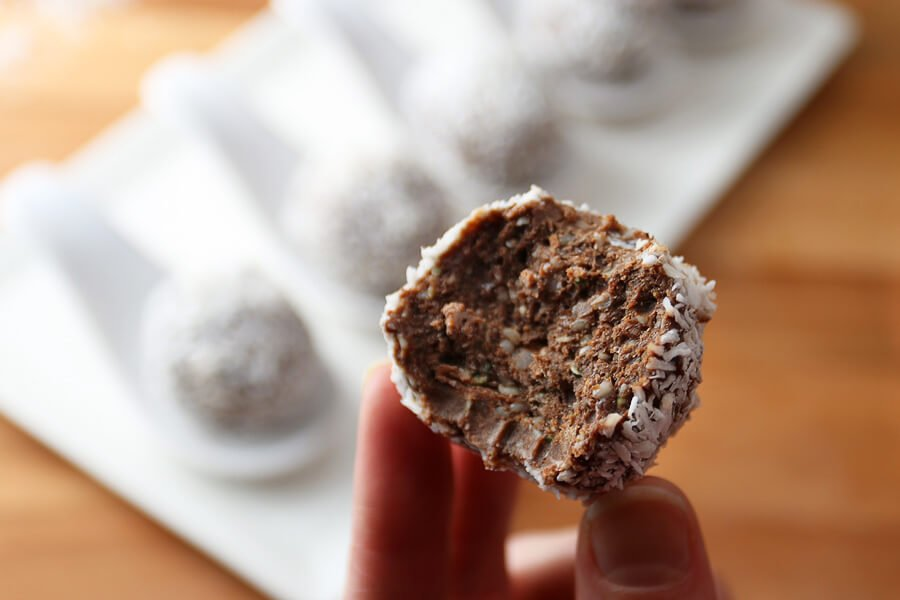 No Bake Chocolate Peanut Butter Fat Bombs | Ruled Me