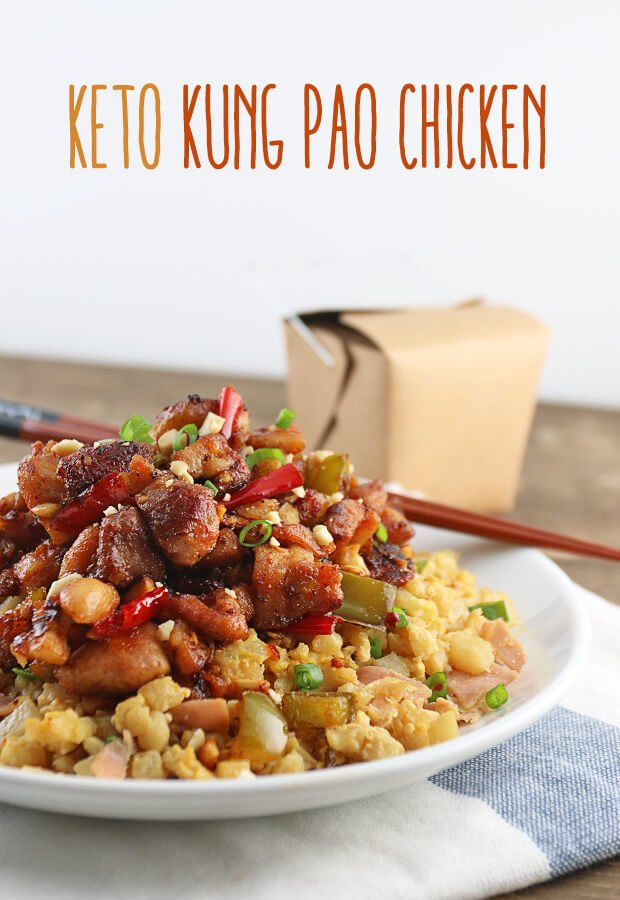 Enjoy this delicious #keto and #lowcarb Kung Pao Chicken recipe. It makes a fantastic replacement for anyone that craves take-out! Shared via //www.ruled.me/