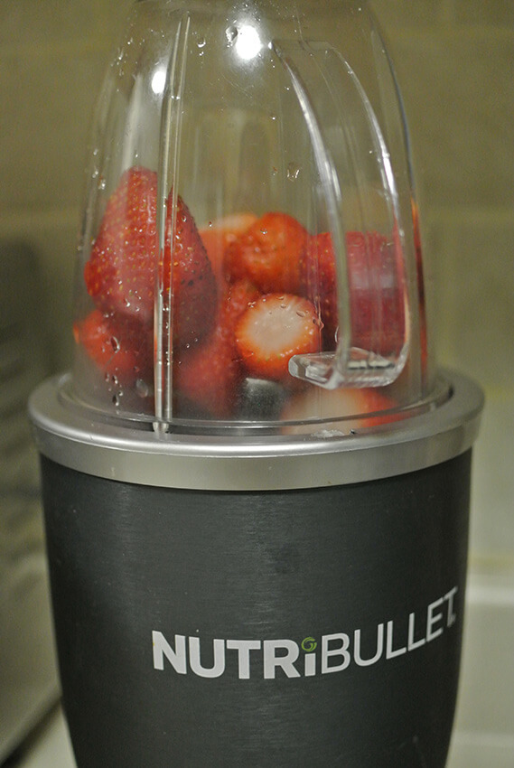 Puree strawberries