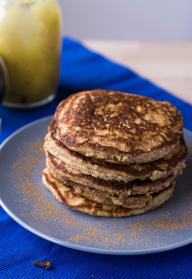 Some delicious, low carb pancakes to get your fill of pumpkin spice goodness during the fall season! Shared via //www.ruled.me/