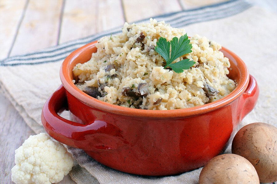 Low Carb Cauliflower Mushroom Risotto