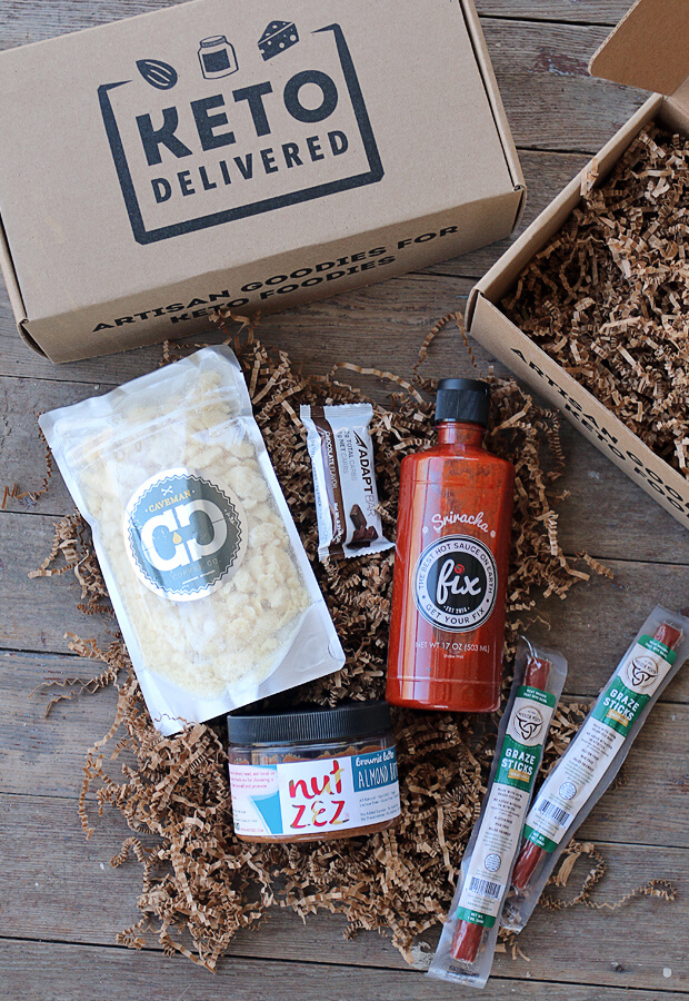 A sweet, chocolaty, and spicy box that revolved around a Valentine's Day theme. Make sure you check out February's Keto Delivered box! www.ketodelivered.com