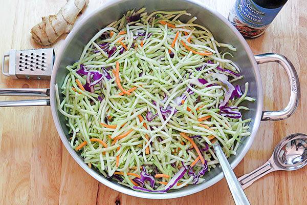 Warm Asian Broccoli Salad