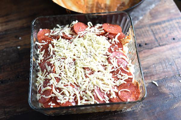 Keto Cauliflower Pizza Casserole