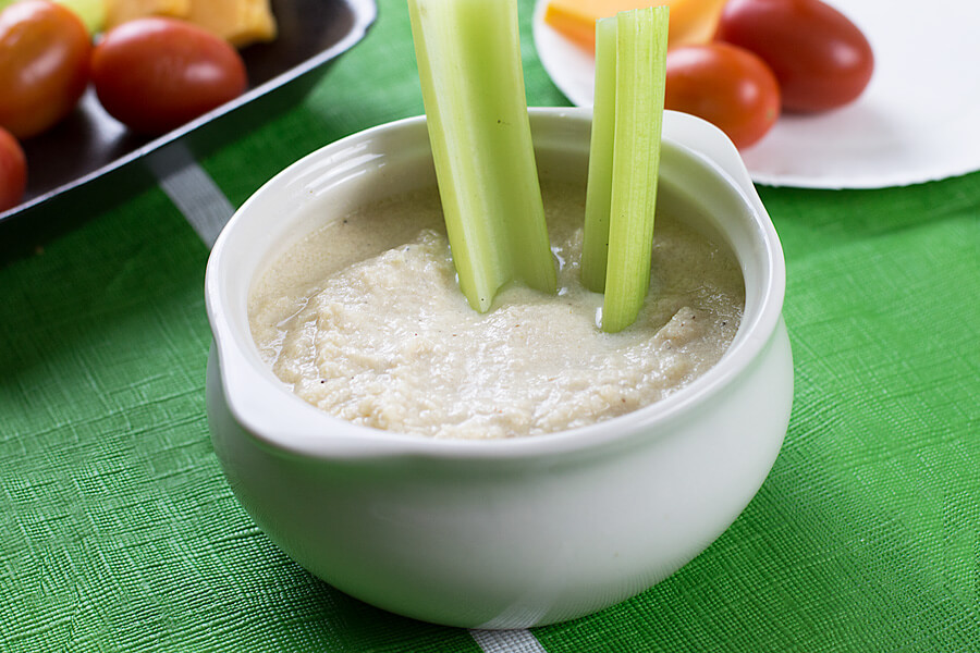 Cheesy Cauliflower Onion Dip