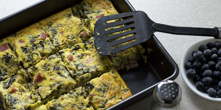 Ham, Ricotta and Spinach Casserole