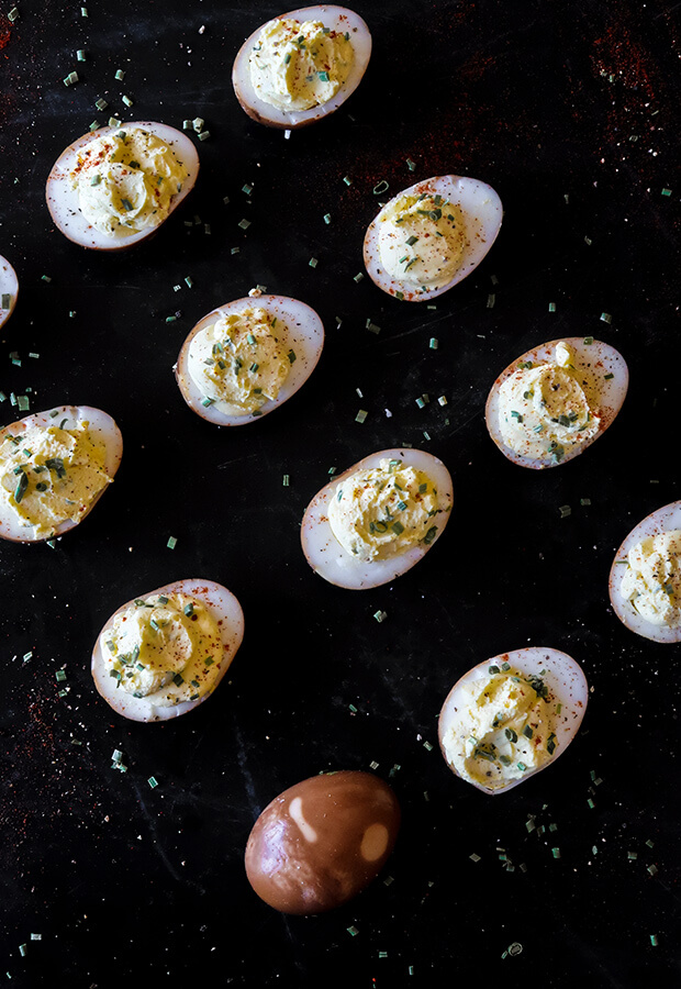 Soy Sauce Marinated Deviled Eggs