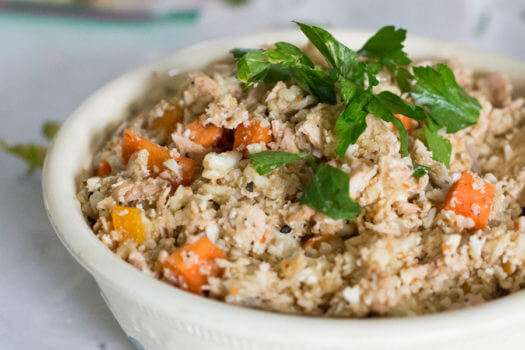 Spicy Cauliflower Rice & Salmon Medley