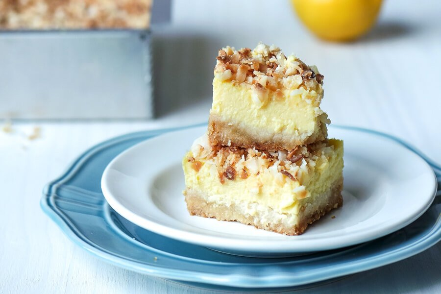 Toasted Coconut Lemon Squares