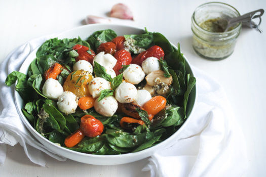 Oven Roasted Caprese Salad